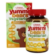 Yummi Bears Children's Vegetarian Calcium + Vitamin D3
