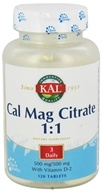 Cal Mag Citrate 1:1 500 mg/500 mg With Vitamin D-2