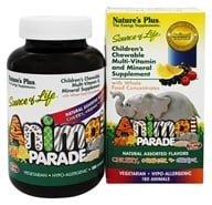 Nature's Plus - Animal Parade Assorted Cherry, Orange, & Grape - 180 Chewable Tablets