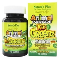 Nature's Plus - Animal Parade KidGreenz Chewable Tropical Fruit Flavor - 90 Chewable Tablets