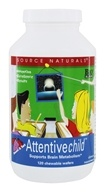 Source Naturals - Attentive Child Sweet & Tart - 120 Chewable Wafers