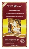 Henna Brasil Powder Natural Hair Coloring Golden Brown
