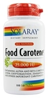 Food Carotene All Natural 25,000 IU Vitamin A Activity