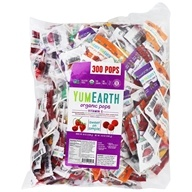 Yum Earth - Organic Lollipops Gluten Free Fruit Flavors - 5 lbs. BULK VALUE!