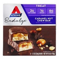 Atkins Nutritionals Inc. - Endulge Bar Caramel Nut Chew - 5 Bars