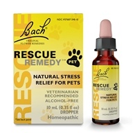 Bach Original Flower Remedies - Rescue Remedy Pet Natural Stress Relief for Pets - 10 ml.