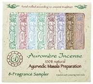 Ayurvedic Incense 8 Fragrance Sampler