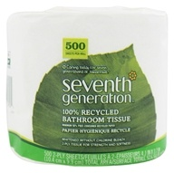 Bathroom Tissues 100% Recycled White 2 Ply 500 Sheets