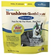 Breath-Less Chewable Brushless-Toothpaste for Small to Medium Dogs