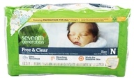Seventh Generation - Free and Clear Baby Diapers Newborn (up to 10 lb.) - 36 Diaper(s)