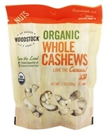Organic Whole Large Unsalted Cashews