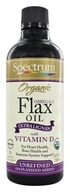 Organic Flax Oil Omega-3 Ultra Lignan with Vitamin D