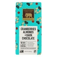 Dark Chocolate Bar with Cranberries & Almonds 72% Cocoa