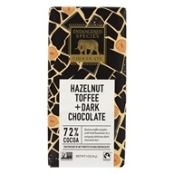 Dark Chocolate Bar with Hazelnut Toffee 72% Cocoa
