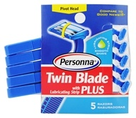 Twin Blade Plus Disposable Razors with Lubricating Strip