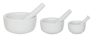 Mortar and Pestle Set of 3 Porcelain
