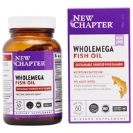 Wholemega 100% Wild Alaskan Salmon Extra Virgin Omega-Rich Fish Oil