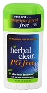 PG Free Deodorant Stick with Aloe and Rosemary Lemon