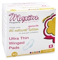 Individually Wrapped Cotton Pads Ultra Thin Winged Daytime