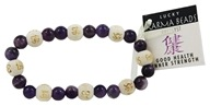 Karmalogy Lucky Karma Beads Bracelet Amethyst Good Health Inner Strength