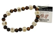 Karmalogy Lucky Karma Beads Bracelet Tiger's Eye Protection Balance
