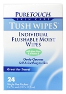 Individual Flushable Moist Tush Wipes Biodegradable