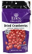 Organic Dried Cranberries Apple Sweetened