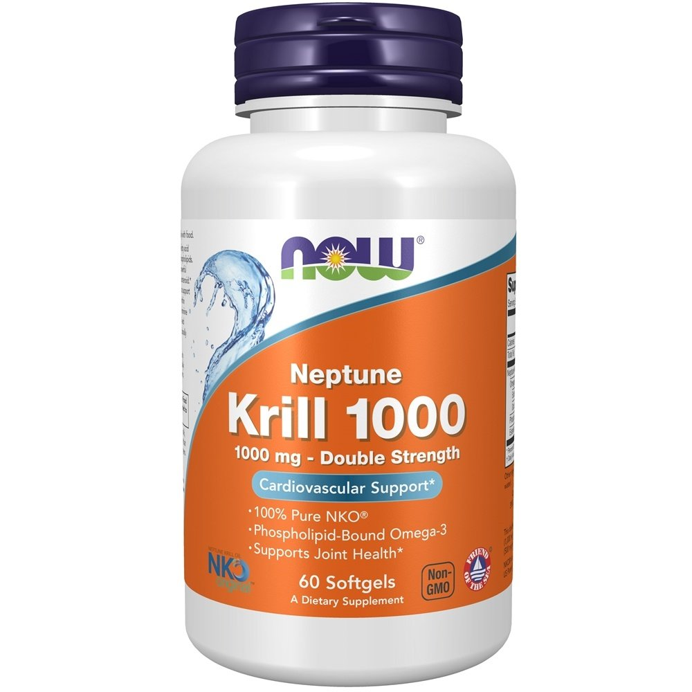 NOW Foods - Neptune Krill 1000 Enteric Coated Double Strength 1000 mg. - 60 Softgels