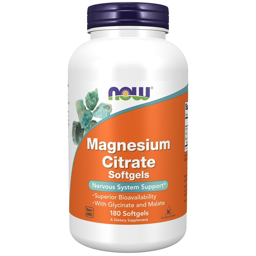 NOW Foods - Magnesium Citrate - 180 Softgels