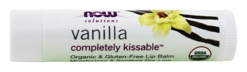 NOW Foods - Solutions Completely Kissable All Natural Lip Balm Vanilla Bean - 0.15 oz.
