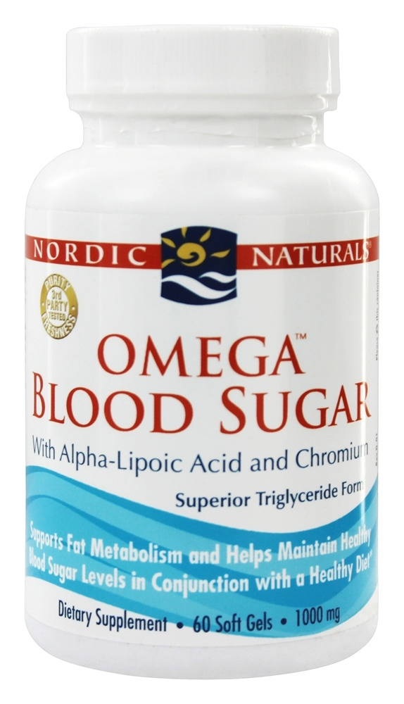 Nordic Naturals - Omega Blood Sugar with Alpha-Lipoic Acid and Chromium 1000 mg. - 60 Softgels