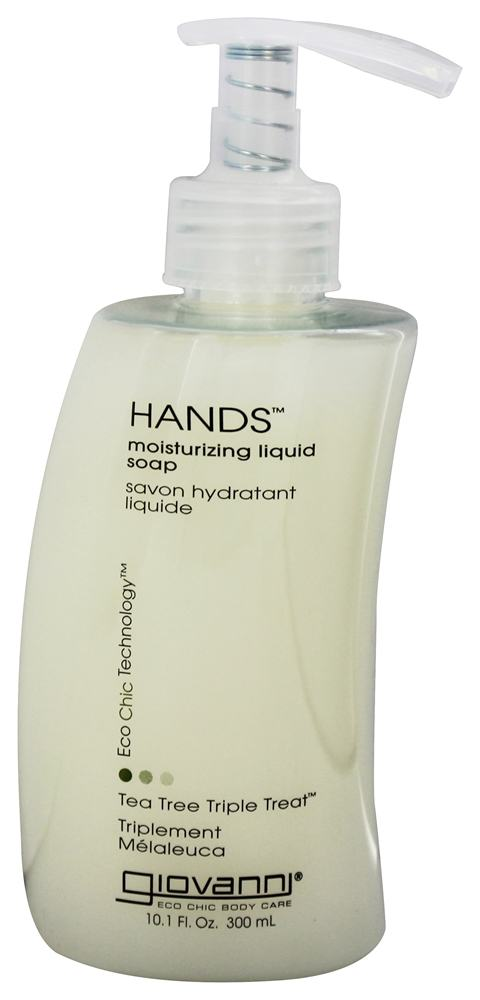 Giovanni - Hands Liquid Soap Moisturizing Tea Tree Triple Treat - 10.1 oz.