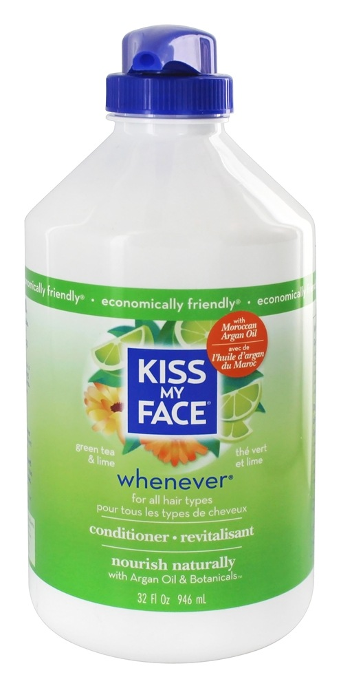 Kiss My Face - Conditioner Whenever Everyday Use Green Tea & Lime - 32 oz.