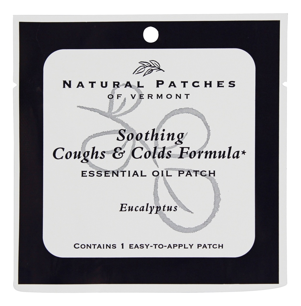 Natural Patches of Vermont - Soothing Coughs & Colds Formula Essential Oil Body Patch Eucalyptus - 1 Patch(es)
