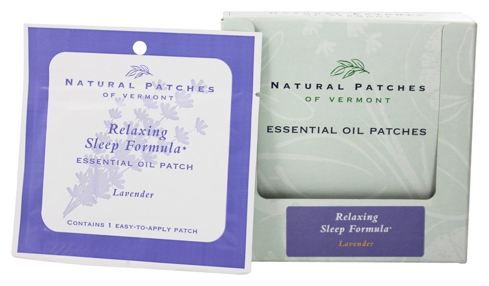 Natural Patches of Vermont - Relaxing Sleep Formula Essential Oil Patch Lavender - Formerly Naturopatch