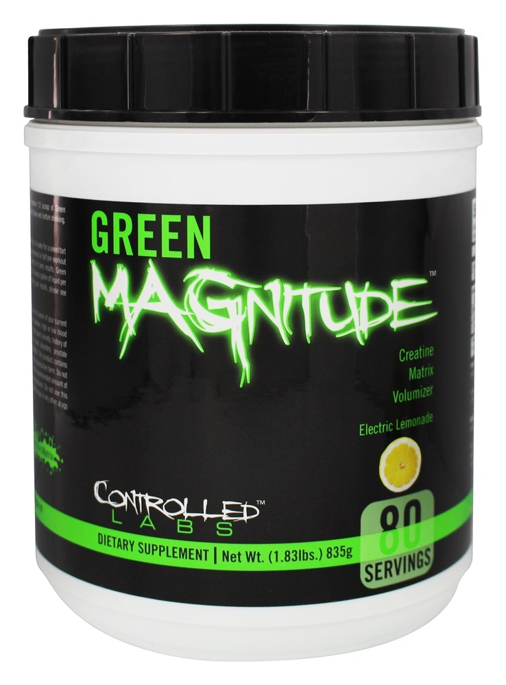 Controlled Labs - Green Magnitude Creatine Matrix Volumizer Electric Lemonade - 1.83 lbs.