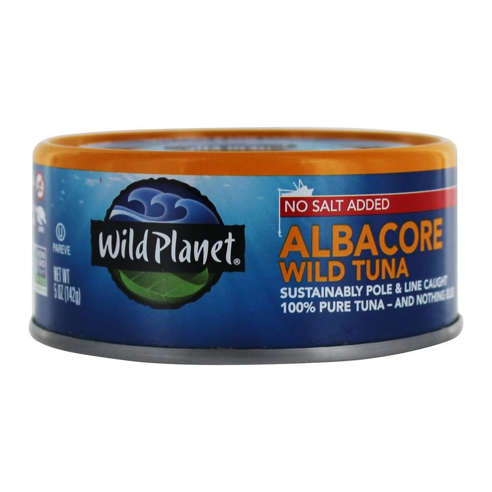 Wild Planet - Wild Albacore Tuna No Salt Added 142 g. - 5 oz.