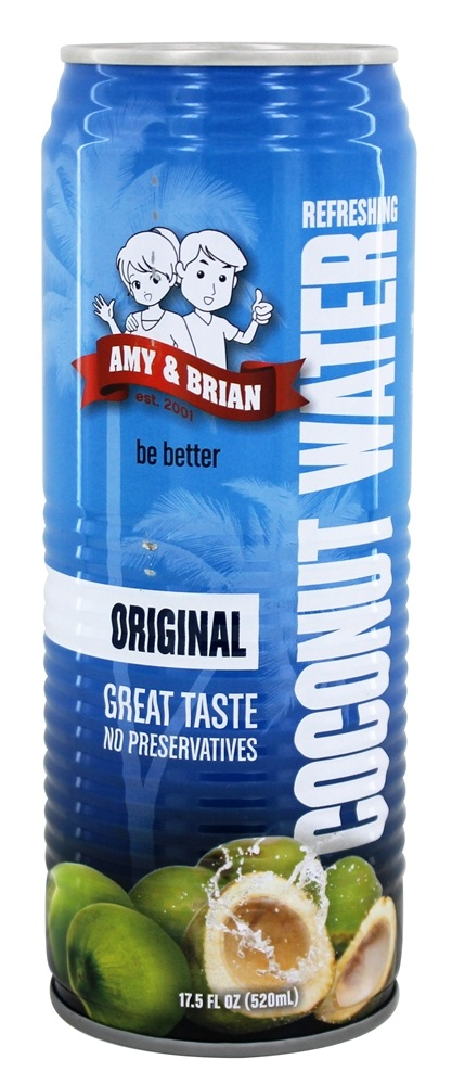 Amy & Brian - All Natural Coconut Water - 17.5 oz.