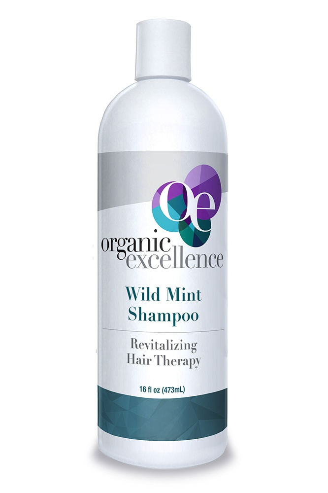 Organic Excellence - Revitalizing Hair Therapy Shampoo Wild Mint - 16 oz.