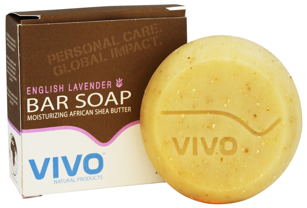 VIVO Natural Products - Moisturizing African Shea Butter Bar Soap English Lavender - 4.5 oz.