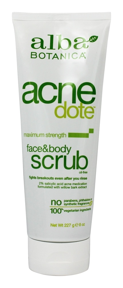 Alba Botanica - Natural Acnedote Face & Body Scrub - 8 oz.