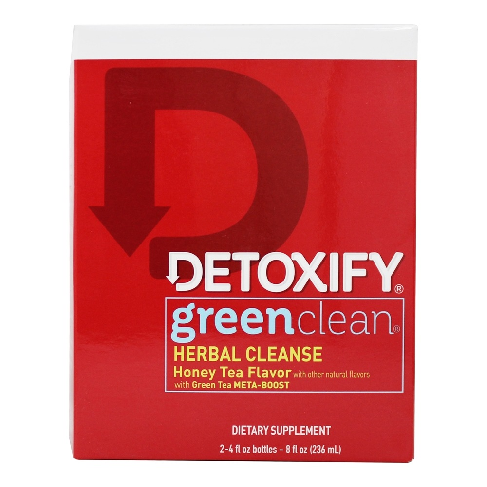 Detoxify Brand - Green Clean Herbal Cleanse Honey Tea Flavor - 8 oz.