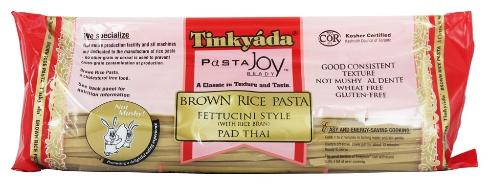 Tinkyada Pasta - Brown Rice Pasta Fettucini Style Pad Thai With Rice Bran - 14 oz.