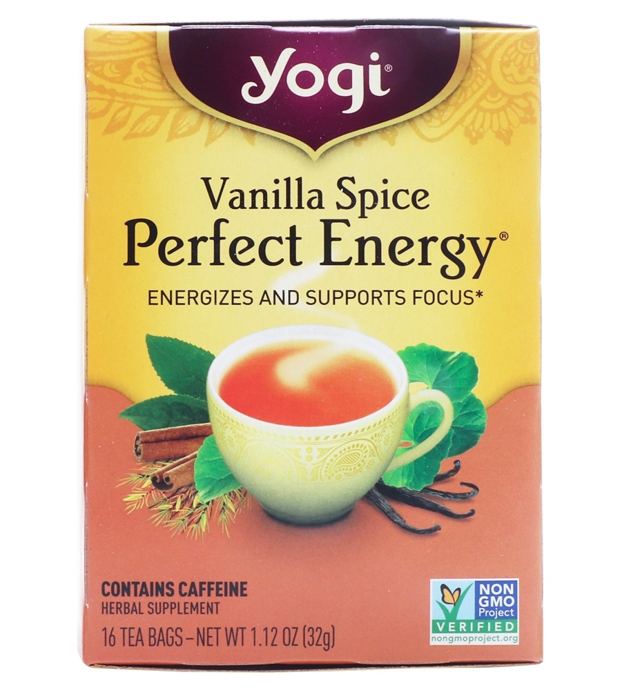 Yogi Tea - Perfect Energy All Natural Tea Vanilla Spice - 16 Tea Bags