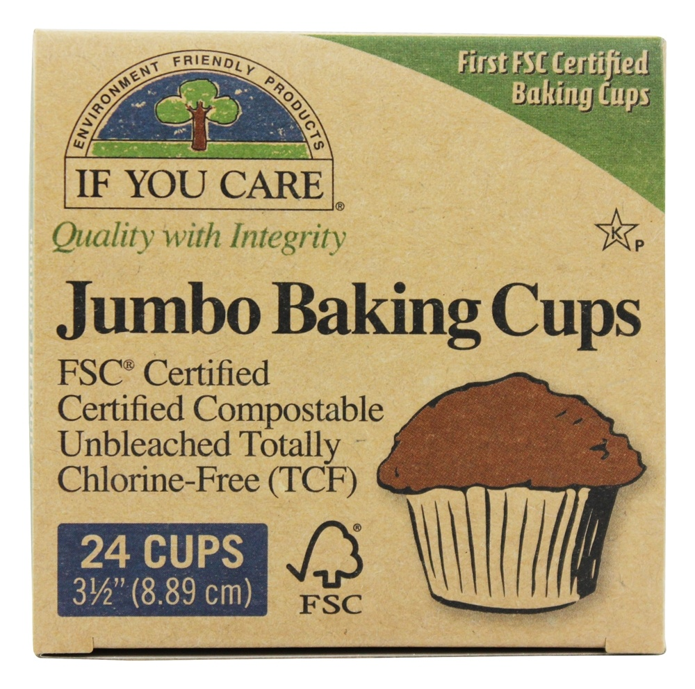 If You Care - Jumbo Baking Cups Unbleached Totally Chlorine-Free (TCF) - 24 Cup(s)