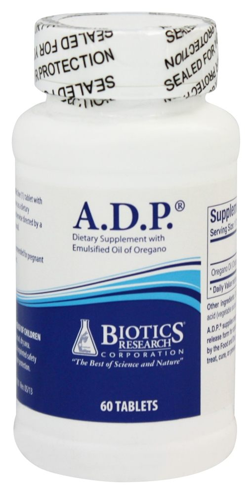 Biotics Research - ADP with Emulsified Oil of Oregano - 60 Tablets