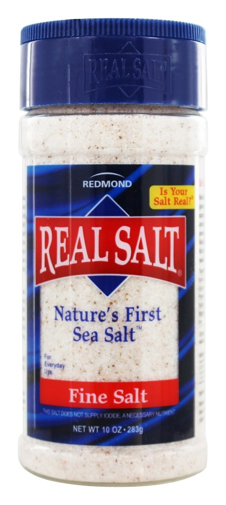 Real Salt - Nature's First Sea Salt Shaker Fine Salt - 9 oz.