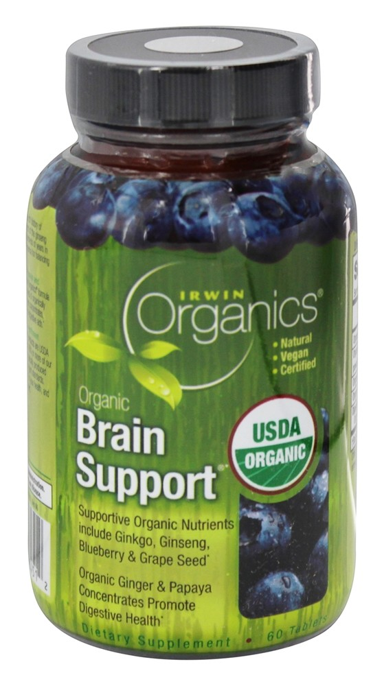 Irwin Naturals - Organic Brain Support - 60 Tablets