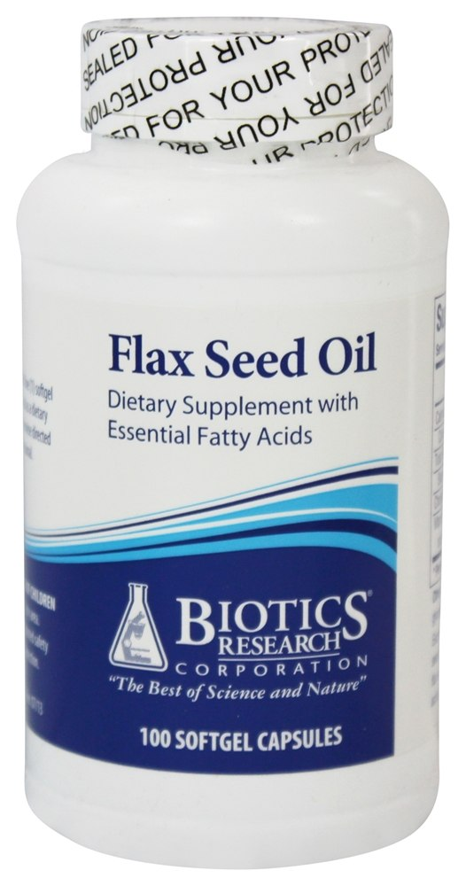 Biotics Research - Flax Seed Oil - 100 Capsules