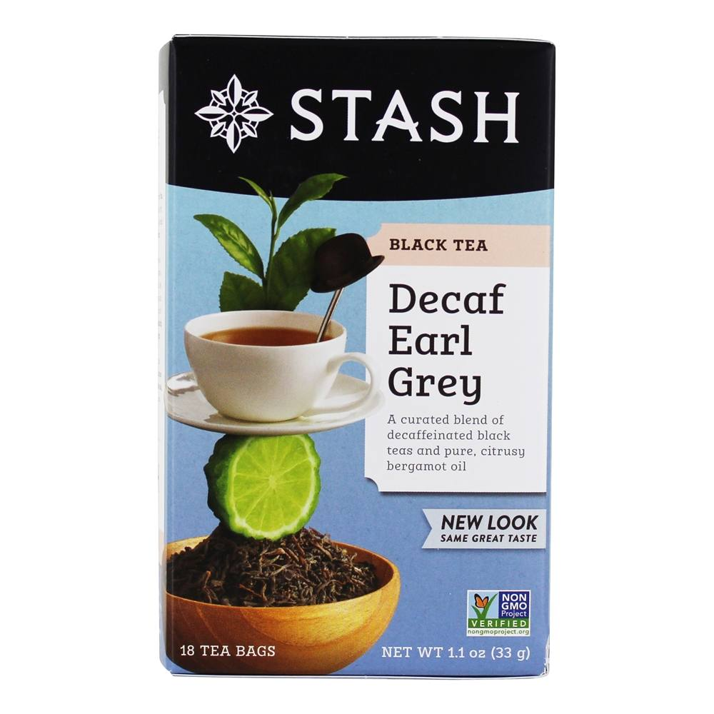 Stash Tea - Premium Earl Grey Decaf Tea - 18 Tea Bags